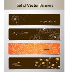 nature web headers vector image vector image