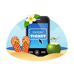 Purchase airline tickets online vector