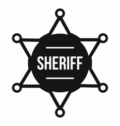 Sheriff badge icon simple style vector image vector image