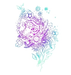 Abstract graphic colored tiger print vector image