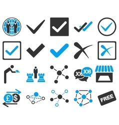 Agreement and trade links icon set vector image