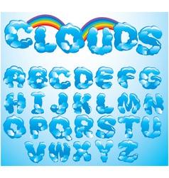 Alphabet cloud letters vector image vector image