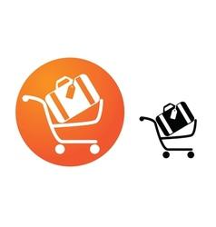 Baggage cart vector image