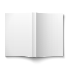 Blank softcover book template spread out on white vector image vector image