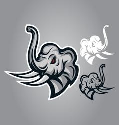 elephant head sing logo vector image vector image