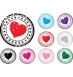 Heart stamp vector