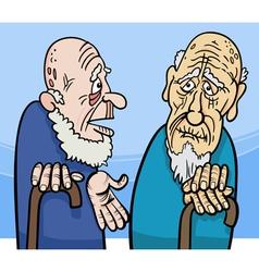 old men cartoon vector image vector image