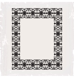 ornamental frame vintage in editable vector image vector image