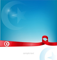 tunisia flag on background vector image vector image