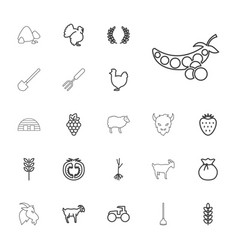 22 agriculture icons vector