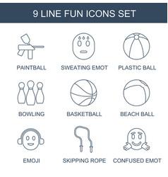 9 fun icons vector