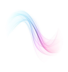 Abstract color wavy background vector