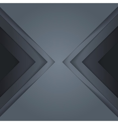 Abstract grey paper triangle shapes background vector