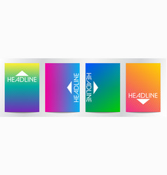 abstract line gradient color for book cover vector image