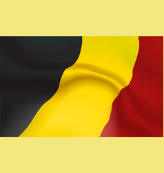 background belgian flag in folds tricolour vector image