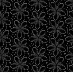 background with gray seamless pattern of flowers vector image