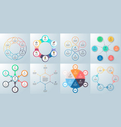 business infographics diagrams with 6 steps vector image