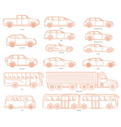 car body style public transport and passenger vector image