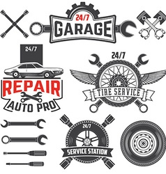 Car service labels set vector