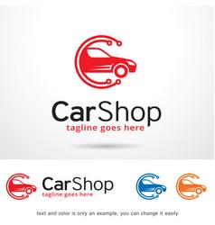 Car shop logo template vector