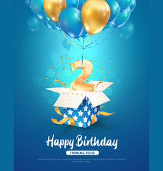 Celebration 2 th years birthday 3d vector