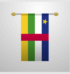 central african republic hanging flag vector image