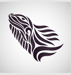 chameleon logo icon design vector image
