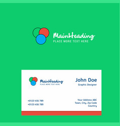 circles logo design with business card template vector image