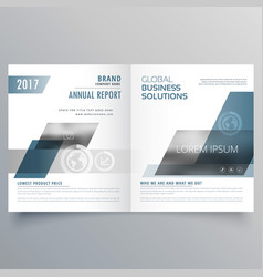 Company business cover page bifold brochure vector