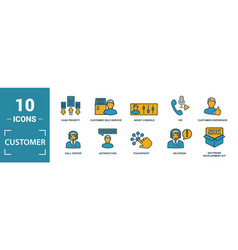 Customer service icon set include creative vector