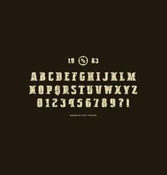 Decorative solid serif font vector