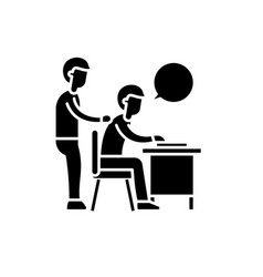 delegation of work black icon sign on vector image