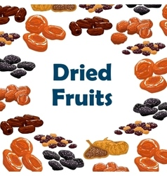 Dried fruits snacks poster vector