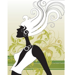 fashion hair vector image