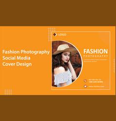Fashion shop photography social media banner vector