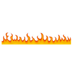 Fire flame banner horizontal flat style vector