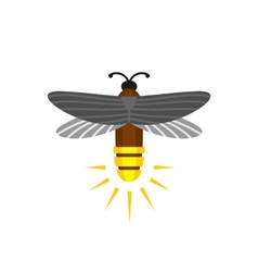 Firefly isolated cartoon logo vector