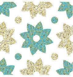 flowers with glitter patter vector image