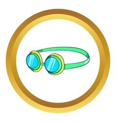 Goggles icon vector