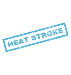 Heat Stroke Rubber Stamp vector