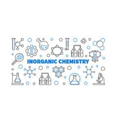 Inorganic chemistry outline banner or vector