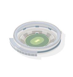 isometric round arena circular cricket stadium vector image