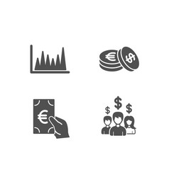 line graph finance and savings icons salary vector image