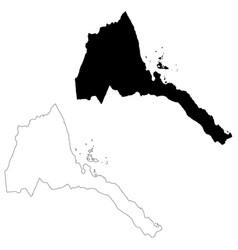 map eritrea isolated black vector image
