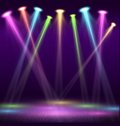 modern interior nightclub with empty show stage vector image