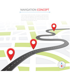 navigation concept with pin pointer vector image