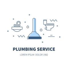 Plumbing service concept vector