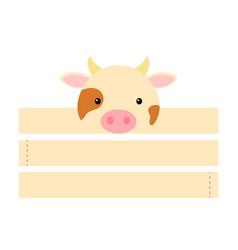 printable cow paper hat party crown die cut vector image