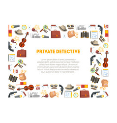 private detective banner template investigators vector image