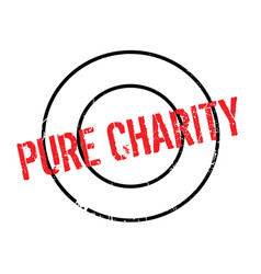Pure charity rubber stamp vector